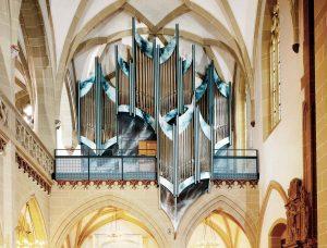 Neue Kirchenorgel mit künstlerischer Malerei in Kitzingen