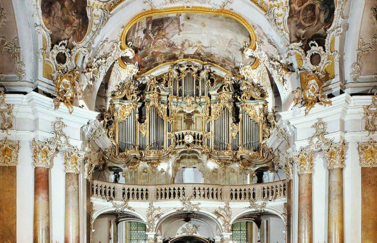 Gothischer Prospekt der Orgel in Würzburg Käppele