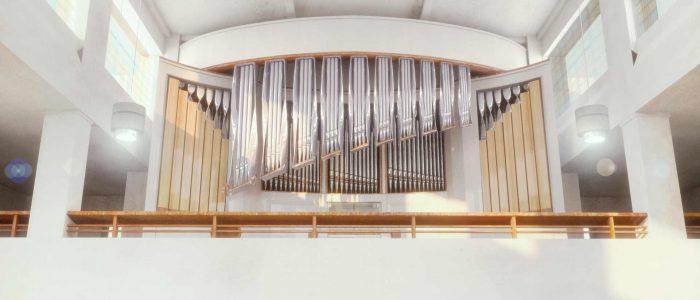 Finaler Entwurf des neuen Kirchenorgelprospekts St. Agnes in Prag